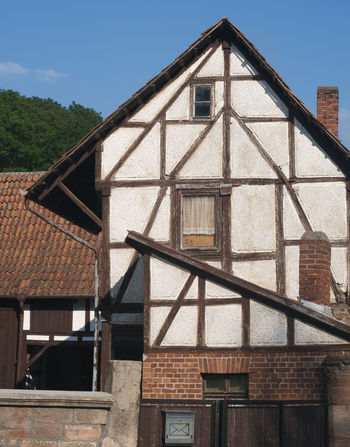 half-timber house in Germany Architecture Blue Sky Close-up Façade Germany Half-timber House