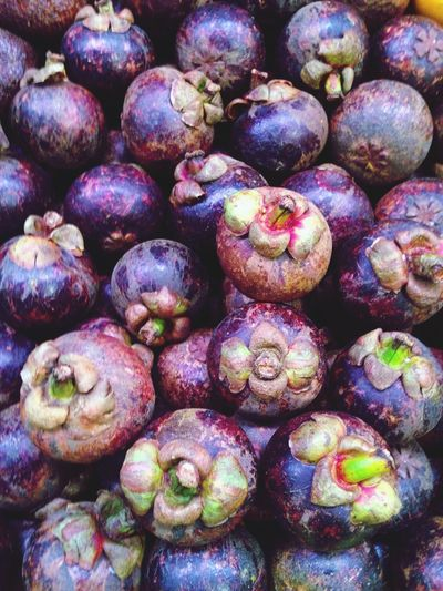 Mangosteen Fresh Fruit Mangosteen Fruit Healthy Eating Freshness Purple Food And Drink No People Large Group Of Objects Food