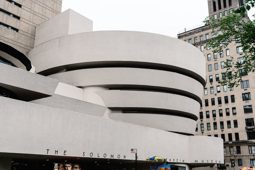 Solomon R. Guggenheim Museum in NYC Architecture No People Built Structure Low Angle View Day Building Exterior Nature Outdoors Building Sky Solomon R. Guggenheim Museum Guggenheim Guggenheim Nyc Frank Lloyd Wright Architecture Frank Lloyd Wright Architecture Manhattan NYC Modern Architecture City Office Modern Tall - High Tower Street Travel Destinations Residential District Office Building Exterior Window