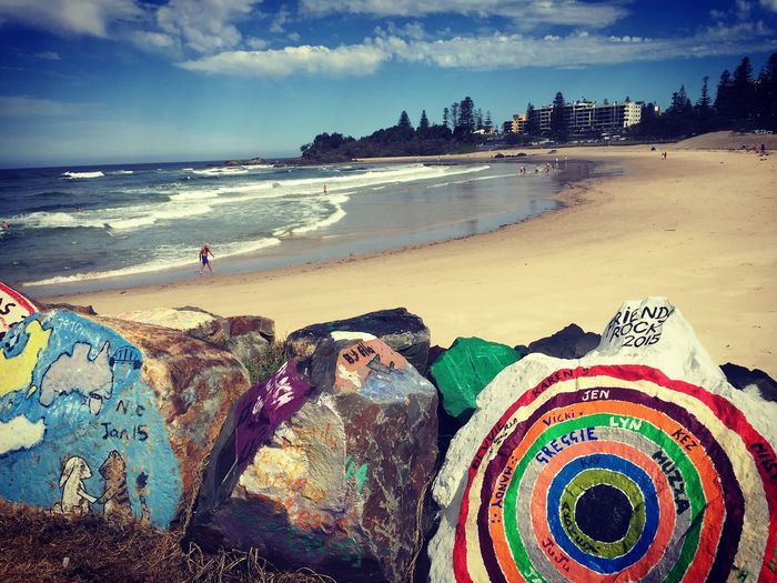 Portmacquarie Beach Colorful Hello World Miniholiday Lovelyview ♡