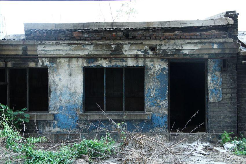 Abondoned Blue Workshop Old Time & Abondoned Factory