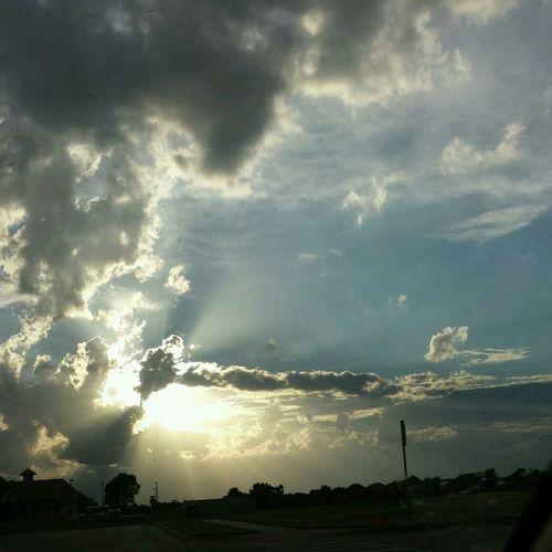 Clouds And Sky ~Oklahoma Skies~ No Filter Light Rays
