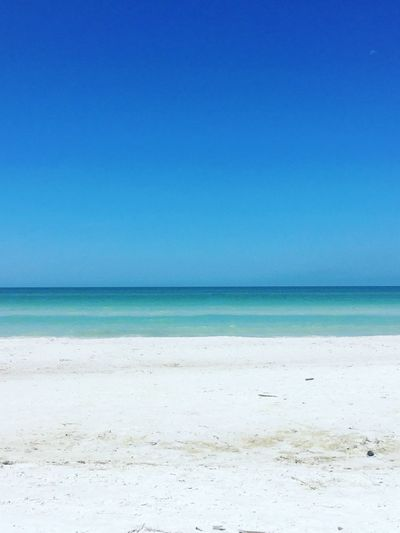 Sea Beach Blue Horizon Over Water Sand Clear Sky Nature Scenics Tranquil Scene Water Tranquility Beauty In Nature No People Day Outdoors Turquoise