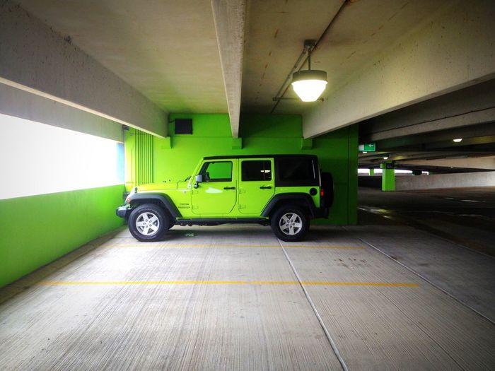 How cool. I feel lucky to have this shot. This is not my Jeep but I had to stop my car for the photo op :) O |||||| O Jeep Life Green Having Fun