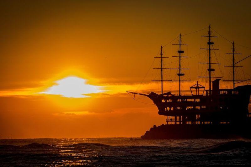Sunrise Sea Ocean Ship 정동진 Korea