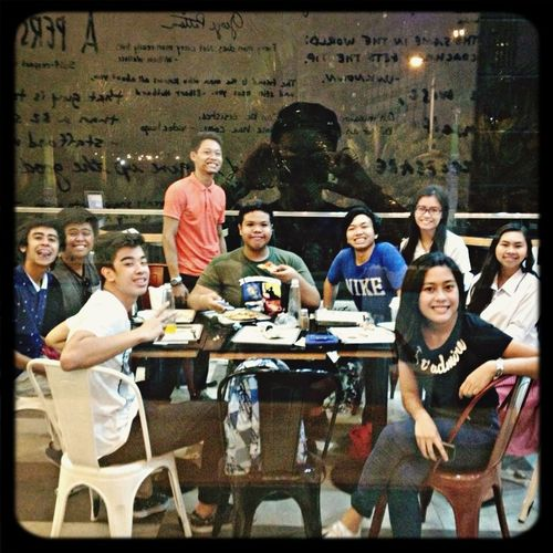 It's our another batch reunion! ? Oh yes, reunited once again yet incomplete ? but still thankful despite of our busy college schedule hahaha hi highschool classmateProjectpiephpMakeyourownpizzazAlabangcommutete