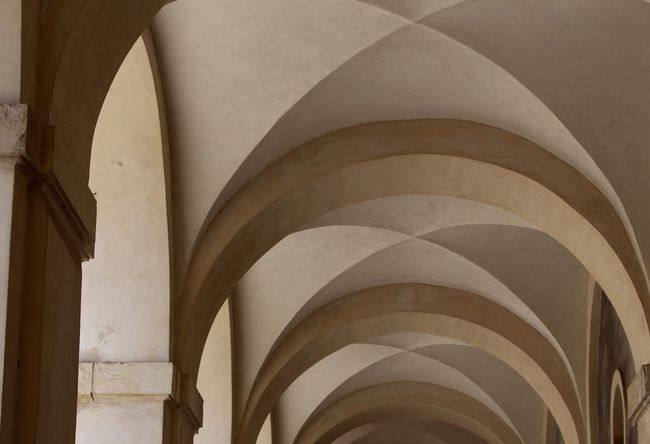 Curves... The Architect - 2018 EyeEm Awards The Creative - 2018 EyeEm Awards Getting Inspired Exceptional Photographs Architecture Arch Built Structure Building Indoors  No People Architectural Column The Past Day History Pattern Ceiling In A Row Arcade Low Angle View Design Repetition Architectural Feature Architecture And Art Abbey