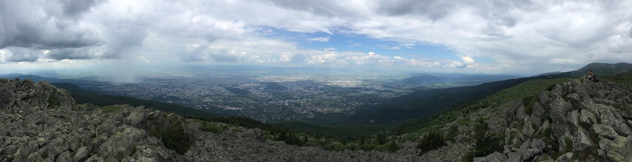 Mobile pano above Sofia👌👌👌 Nature Beauty In Nature Mountain Sofia Sofia, Bulgaria Cloud - Sky Tranquility Day Scenics No People Landscape Outdoors Mountain Range From My Point Of View IPhoneography Bulgaria Vitosha Mountain Tranquil Scene Sky Amazing From Where I Stand Tourism Wide Shot Sofia Bulgaria Mountain View