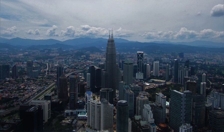KL Sky Tower Kuala Lumpur Architecture Building Exterior Built Structure City Cityscape Downtown District High Angle View Malasya Outdoors Petronas Twin Towers Sky Tower Skyscraper Tall - High Tower