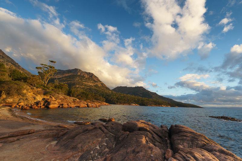 Coles Bay Freycinet National Park Tasmania, Australia Australia Coles Bay National Park Sunny Tasmanian Freycinet Freycinet National Park Honeymoon Bay Landscape Ocean Seaside Tasmania Tassie Outdoors