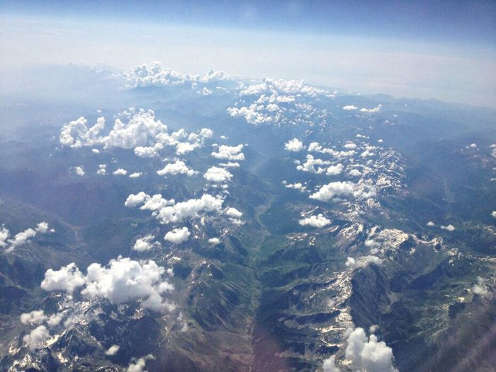 IPhoneography Nature Mountains From An Airplane Window