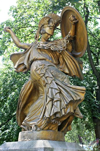 Athena Carving - Craft Product Creativity No People Outdoors Paris Sculpture Statue Wood - Material Wood Carving