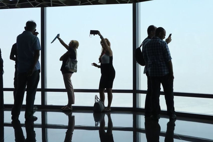 Self Obsession Railing Full Length Indoors  Standing Silhouette Burj Khalifa Dubai Real People Adult Photographing Adults Only Photography Themes People Only Women Sky Young Adult Day The Week On EyeEm