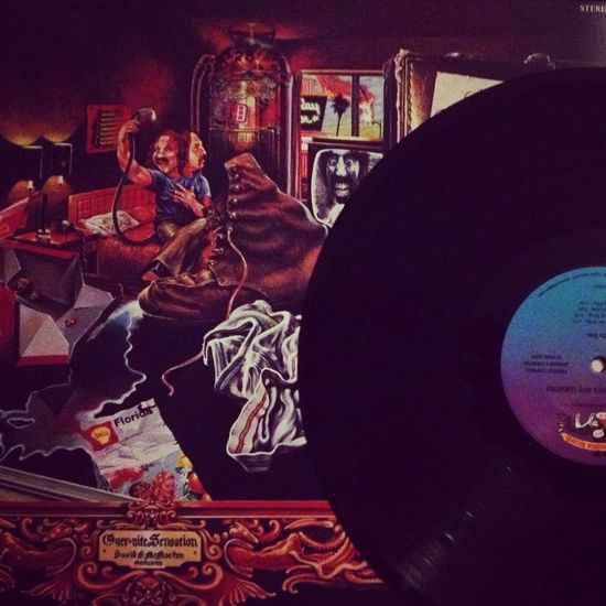 "Now spinning Frank Zappa ""Over-nite Sensation"" My Vinyl Collection Vinyl Music Frank Zappa"
