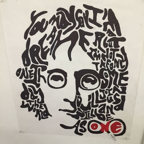 John Lennon Art Show Bryant Highschool