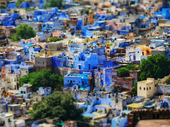 A City in Blue
