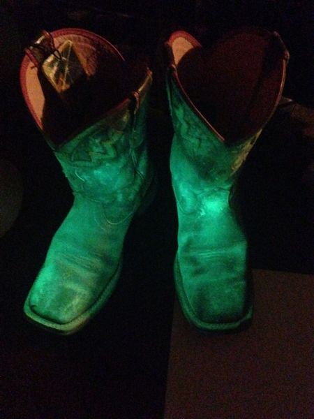 Lieblingsteil Shoe Human Leg Low Section Indoors  Close-up One Person Day Glow In The Dark Glowing Boots