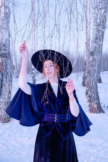 Women One Person Winter Day Tree Snow Nature Warm Clothing Hairstyle Clothing Front View Cold Temperature Bare Tree The Portraitist - 2019 EyeEm Awards