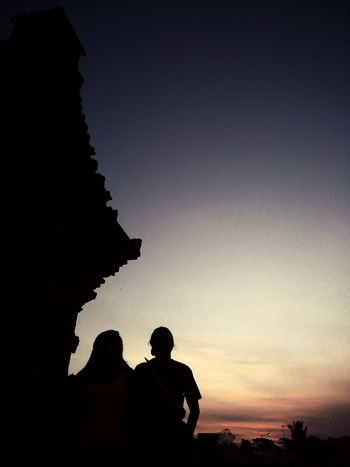 Kekasihku Siluet Buildings Outdoors Candi Penataran Blitar Jawa Timur Xiomi INDONESIA Adult Adults Only Night Sunset
