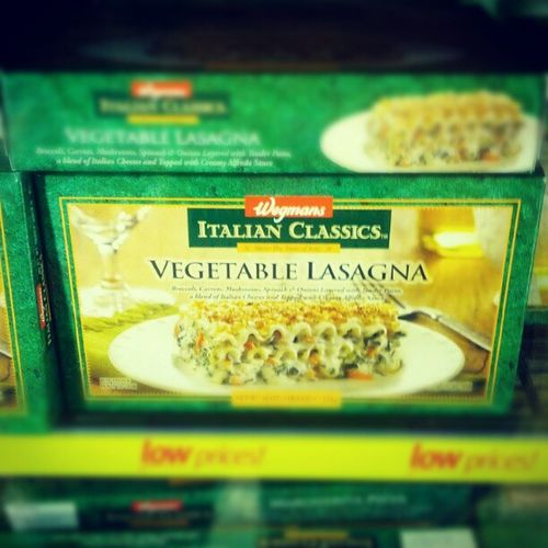 I'm stuck sitting next to vegetable lasagna. Seinfeld Wegmans Buffalo
