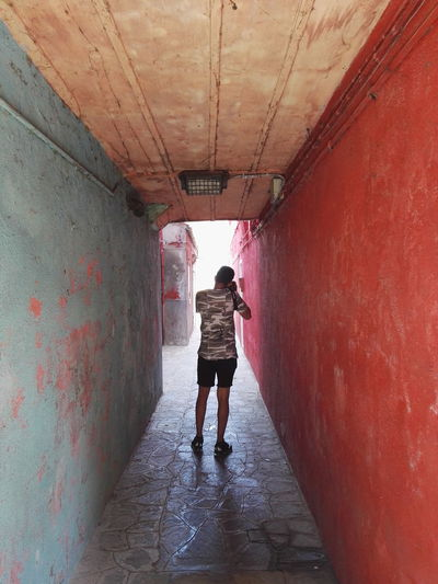 Tunnel One Person Young Adult Architecture Colours Venice