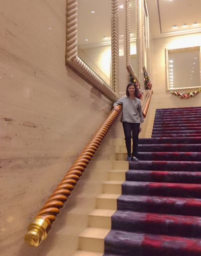 Steps Staircase Steps And Staircases Full Length Real People Stairs EyeEm Ready   One Person Railing Young Adult Hand Rail Architecture Young Women Indoors  Standing Day