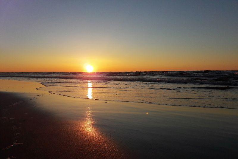 Sunset Polish Seaside🌊 Sun Sea Beach Horizon Over Water