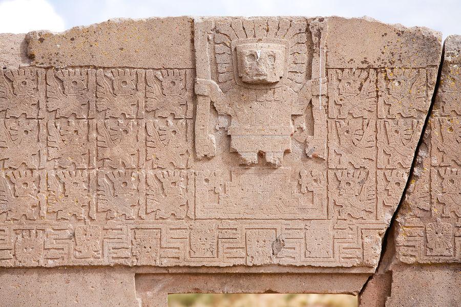 Ancient Archeology Bolivia Bolivian Altiplano Inca Native Ruins Statue Tiahuanaco Tiwanaku Tradition Altiplano Ancient Civilization Andean Culture Bolivian Calendar Cultural Folklore Historic History Kalassaya Temple Old Pre Colombian Sculpture Tihuanaco
