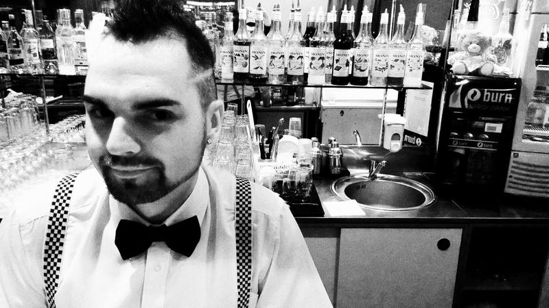Barmen One Man Only Only Men Bar Monchegorsk Alcohol Blackandwhite Sergey