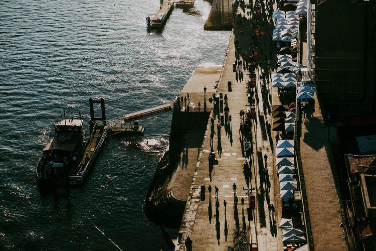 High Angle View Day Transportation Mode Of Transportation Travel Sunlight Shipping  Porto Portugal Travel Destinations