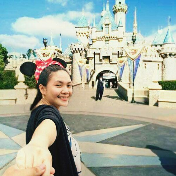 Disneyland Smiling Happiness City Life Travel Destinations Portrait Only Women One Young Woman Only Tourism Travel