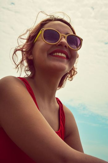 beach day EyeEm Selects Bikini Red Vacations Swimwear Fashion Water Summer Portrait Beach Beauty Women
