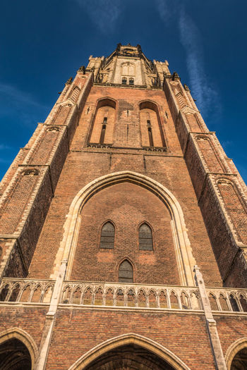 Very nice tower in Delft Holland Delft Tower Delft Tower Delft Netherland Architecture Built Structure Place Of Worship Religion Building Exterior Belief Spirituality Low Angle View Sky Building Travel Destinations Arch The Past History No People Nature Outdoors Gothic Style