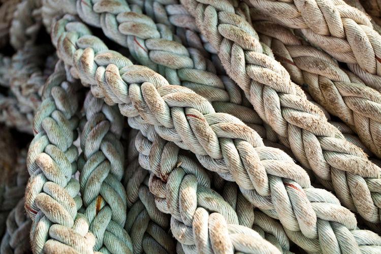 Full frame shot of dirty ropes