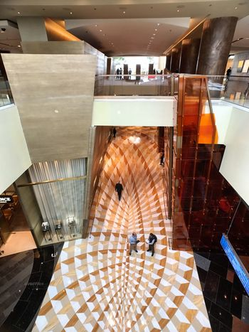 Escalator Indoors  Modern Built Structure Shopping Mall Architecture Tiled Floor Building Atrium No People Day Aria Resort & Casino.