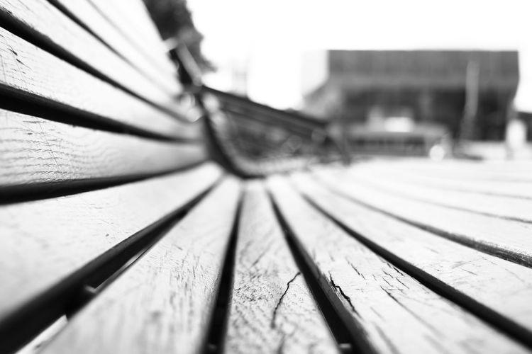Augustusplatz Blackandwhite Black And White Black & White Bank Wood Perspectives Sitting Wood - Material