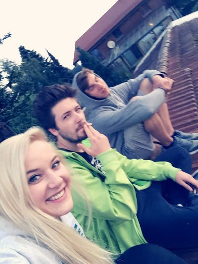 Bestfriend Bestie  Rooftop Sunrise Party Hanging Out Hello World Relaxing Enjoying Life