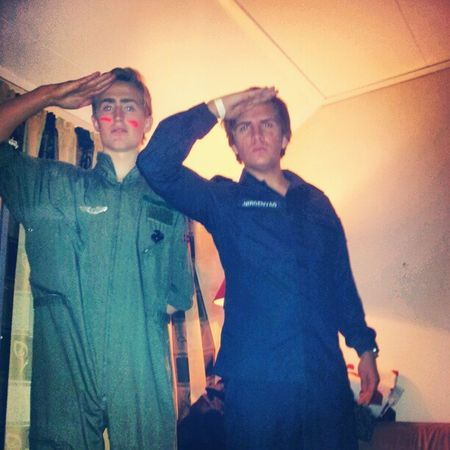 Giv akt! Airforce and Navy Topgun Party perm halloween pilot