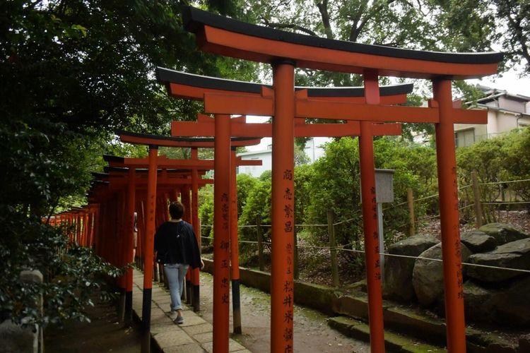 根津神社 Japan People