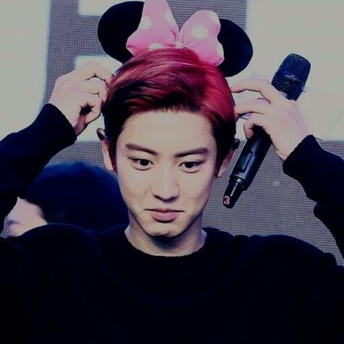 PCY Cute Minimouse EXO Redhair Chanyeol