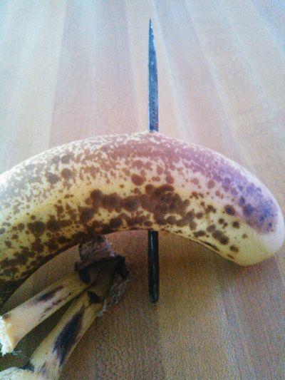 Piercing Fruit Banana Strange Yellow