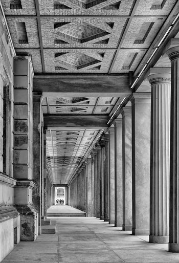 Berlin Berliner Ansichten Black And White Blackandwhite Ceiling City Cityscapes Museumsinsel Pilars