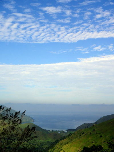 EyeEmNewHere A New Beginning Cove Tree Water Fog Mountain Sea Sky Landscape Cloud - Sky Grass Lush - Description Shore Horizon Over Water Scenics Seascape Beach Tranquil Scene Tranquility Physical Geography Coast Calm Ocean