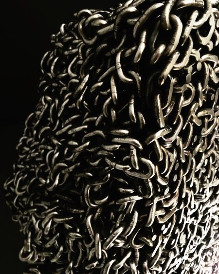 Chains Studio Shot Metal Close-up No People Black Background Indoors  Art Indoors  Gallery Full Length