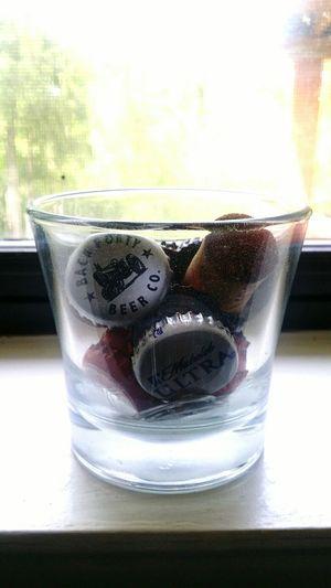 Caps Tops BeerCap Beertop Wine Winecorks Window Focus Glass Cup Glasscup Natural Light Collection