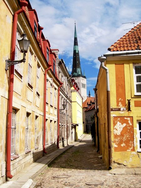Colourful Estonia Historical Building Old Town Tallinn Tallinn Old Town Architecture Bell Tower Building Exterior Built Structure Day No People Outdoors Place Of Worship Religion Sky Spirituality