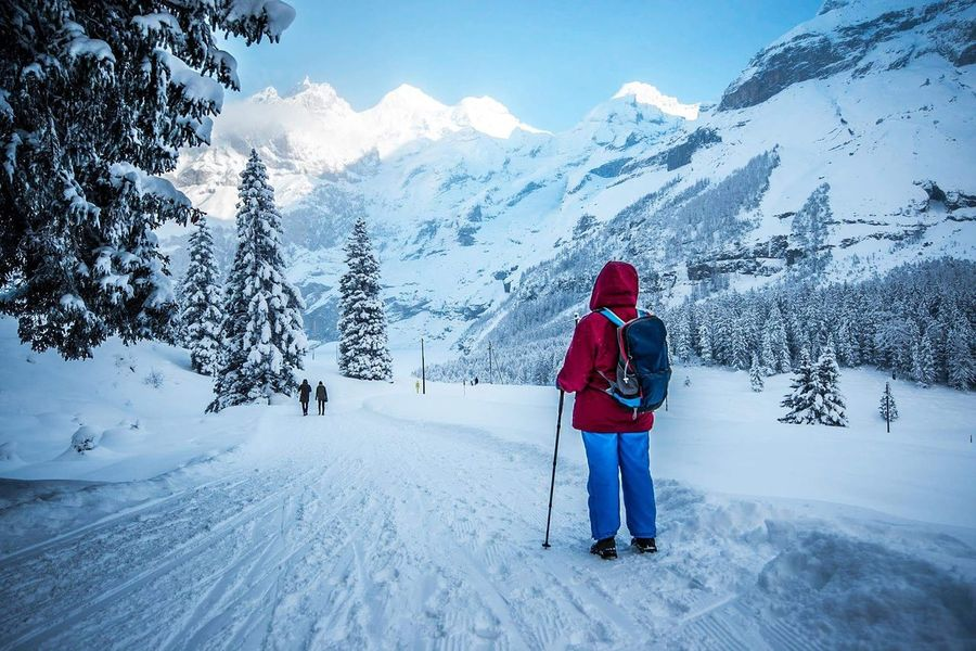 Snow Winter One Person Cold Temperature People Mountain Warm Clothing Outdoors Landscape Nature Sky Day Tree Nature_collection Naturelovers Switzerland Photography Wintertime Nature Photography Addiction Beauty In Nature Water