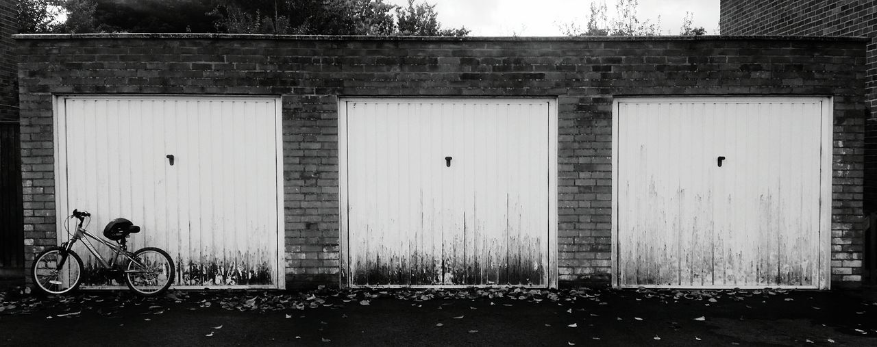 Prepared for a days ride. Bike Ride Garage Door Black And White Black And White Photography Black And White Collection  Shades Of Grey Something Different Trying Something Different Looking At Things Eye4photography