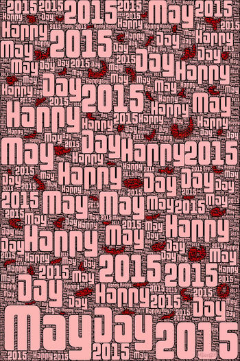 Happy May Day 2015 Mayday2015 ArtPop Modern Art Streamzoofamily Mikefl99 Digital Art Warhol Inspired Red Red Red!!! Modernartwork Creative