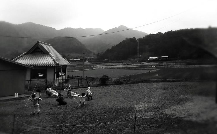 Life Outdoors Moment B & W  Black And White Mystery Simple Oita Oita,japan Enjoying Life Landscape Sculpture Kids Sculpture In The City Field Japan Rice Field Children Children Playing Swings Ultimate Japan